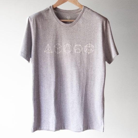 Camiseta Sólidos de Platão
