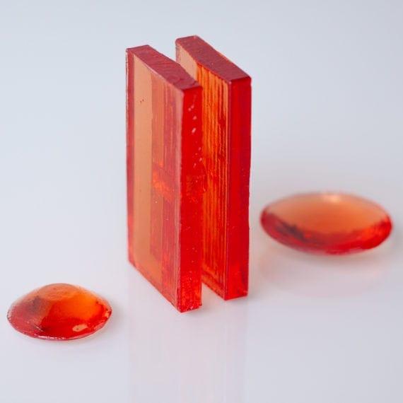 Mini Escultura Congresso Nacional Vermelho