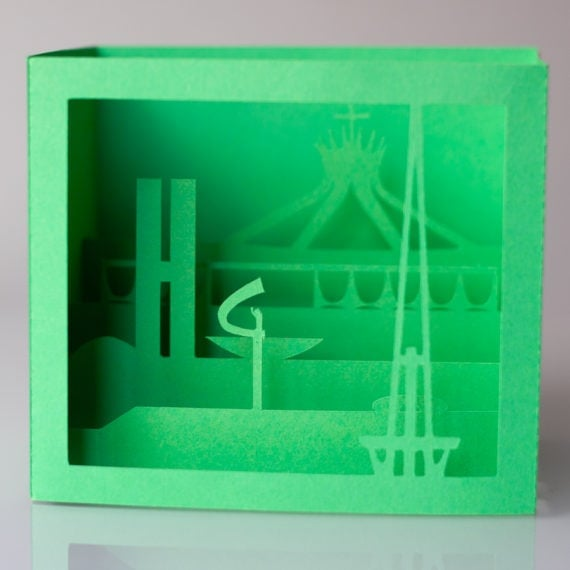 Cartão Brasília 3D – Verde