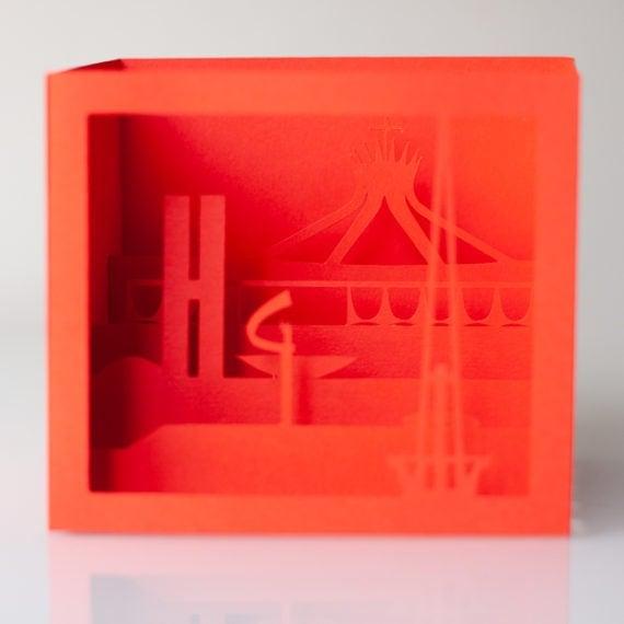 Cartão Brasília 3D – Vermelho