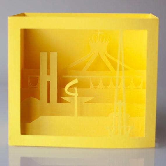 Cartão Brasília 3D – Amarelo