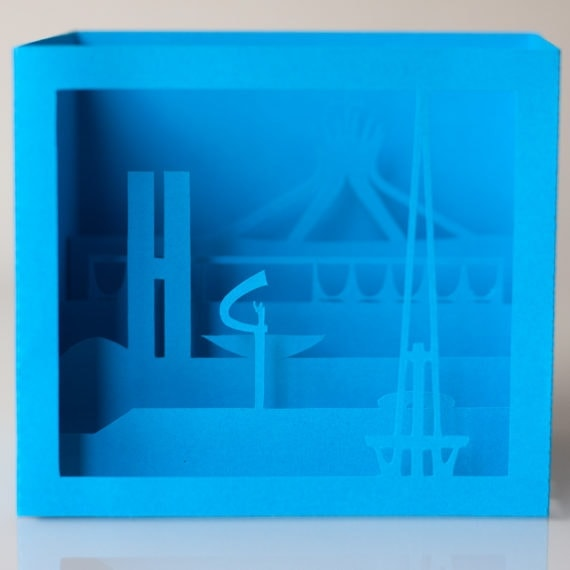 Cartão Brasília 3D – Azul
