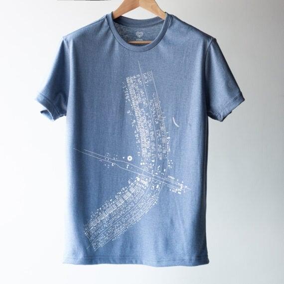 Camiseta Plano Piloto Cinza Claro PP