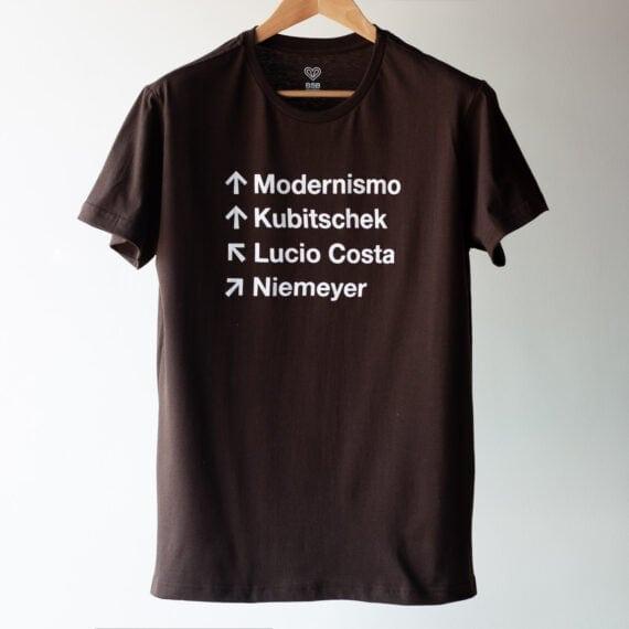 Camiseta Sinalização Marrom XGG