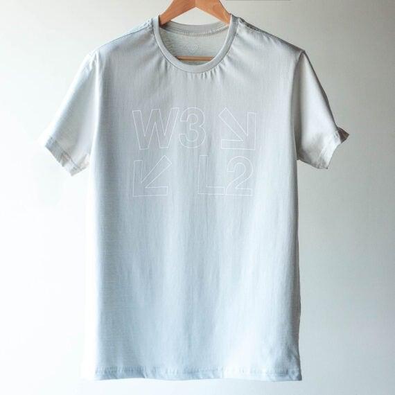 Camiseta W3 L2 Prata P